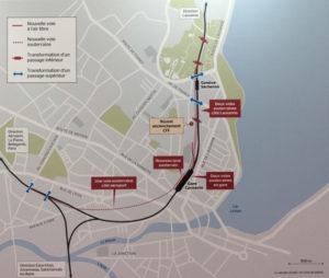 Léman express - extension Gare de Cornavin