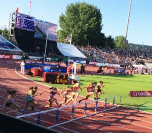 Athlétissima 100m haie national