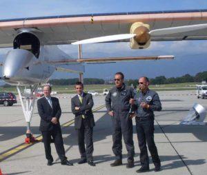 Robert Deillon, François Longchamp, André Borschberg, Bertrand Piccard