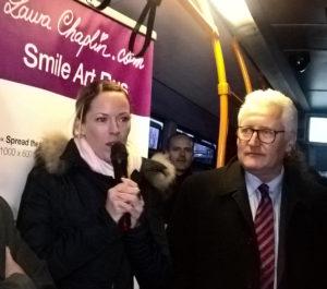 Inauguration Smile Art Bus TPG