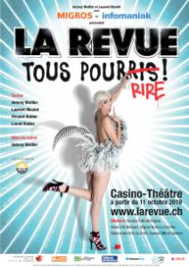 Spectacle satirique Genève Casino Théâtre humour 2019 soirée réveillon