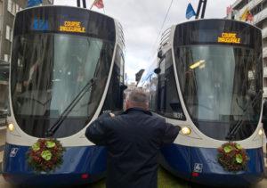 Inauguration ligne 17 transports public genevois tpg 2019 14 décembre Annemass