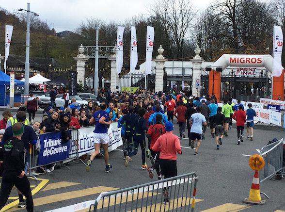 Course de l'Escalade, Escaladélite Elite hommes record Genève Parc Bastions 2019