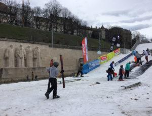 ski et snowboard Freestyle Genève Parc des Bastions 2019 mur des réformateurs