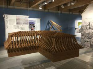 Exposition temporaire Bergues de Vessy, Maison de Futur, Genève le toit 2019