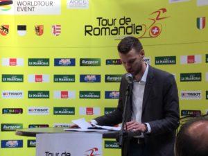 Tour de Romandie 2019 sponsor maillot jaune