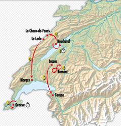 Tour de Romandie 2019 étapes