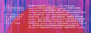 Athénéennes, festival de musique jazz classique et des créations, Alhambra 2019