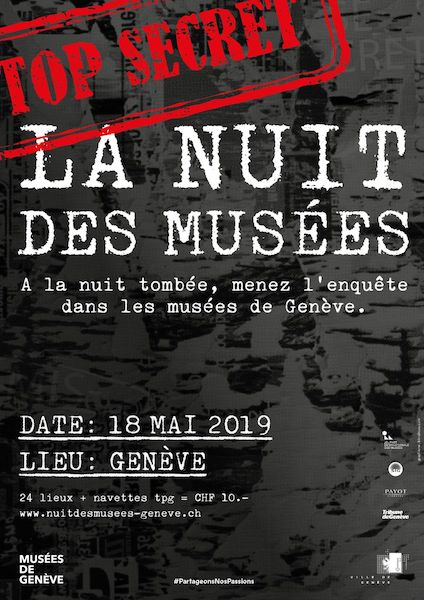 Nuit Européenne des Musées Genève 2019 Top Secret