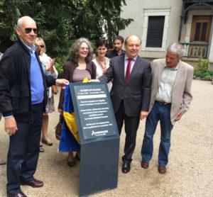 Parc Annemasse personnalité local hommage 2015