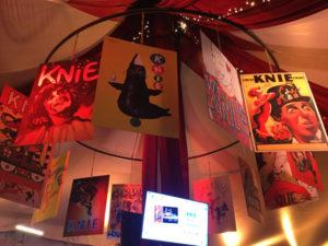 affiches chapiteau centenaire cirque national Knie tournée Suisse romande Lausanne