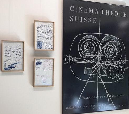 affiche Erni inauguration Cinémathèque suisse Lausanne