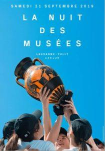 affiche Nuit des Musées Lausanne et Pully 2019