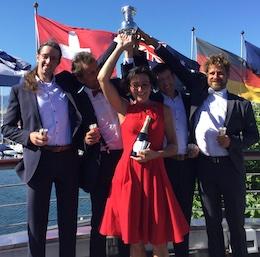 team gagnant le Tour du Léman à l'aviron 2019 remise des prix Nautique 2019