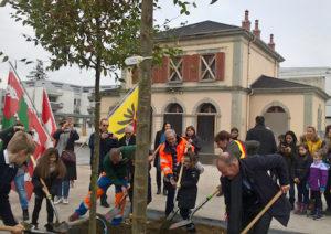 Leman Express Halte de Chêne-bourg aménagement 2019