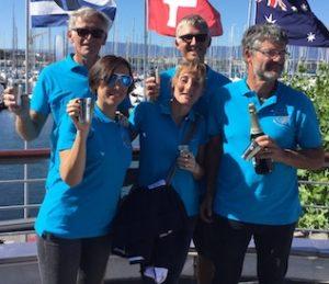team féminin gagnant le Tour du Léman à l'aviron 2019 remise des prix Nautique 2019