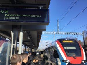 inauguration officielle Léman Express Coppet 2019
