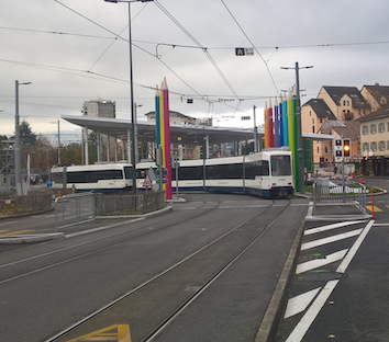 Tram Genève Annemasse ligne 17 frontière Mouillesullaz