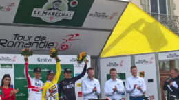 Tour de Romandie 2019 podium Genève